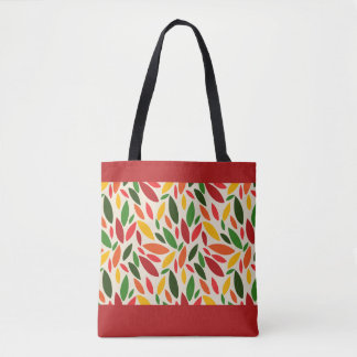Autumn fall leaves falling tote bag