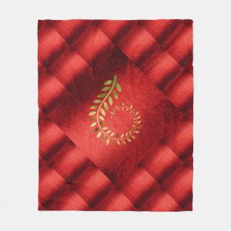 Autumn Fall  Leaves Green Gold Red Geometrical Fleece Blanket