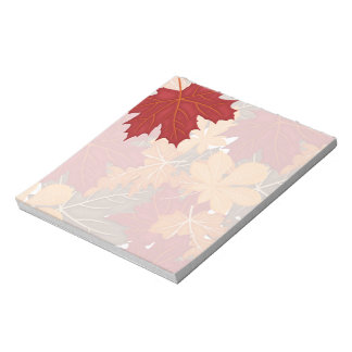 Autumn Fall Leaves Notepad