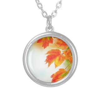 Autumn Fall Leaves Personalized Necklace