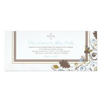 Autumn Fall Leaves Swirls Wedding Invitation Custom Announcements