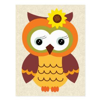 Autumn Fall Owl Postcard
