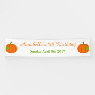 Autumn Fall Pumpkin Birthday Banner