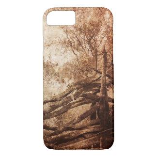 Autumn Fall rural landscape Rustic Farm Fence iPhone 8/7 Case