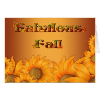 Autumn Fall Sunflowers Card