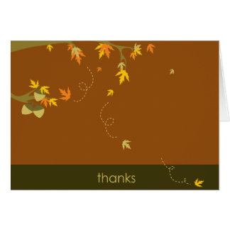 AUTUMN Fall Thank you note any occasion Card