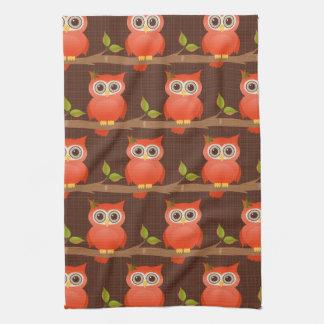 Autumn/Fall Thanksgiving Owl Tea Towel
