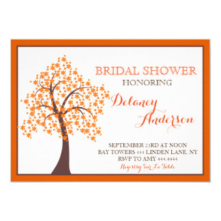 Autumn Fall Tree Bridal Shower Invitations