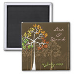 Autumn Fall Trees Woodland Wedding Save The Date