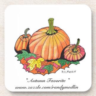 """ Autumn Favorite ""...Cork Coaster"