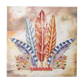 Autumn Feathers Tile