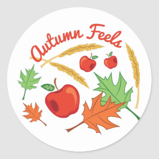 Autumn Feels Classic Round Sticker
