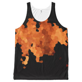 Autumn Fire All-Over Print Singlet