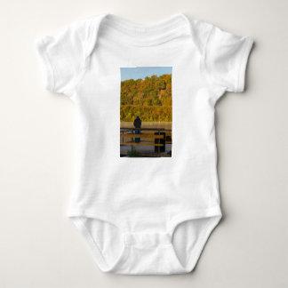 Autumn Fishing Lake Springfield Baby Bodysuit