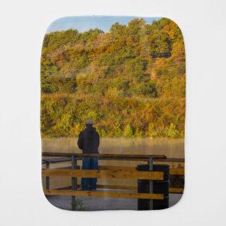 Autumn Fishing Lake Springfield Burp Cloth