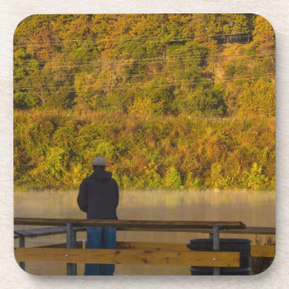 Autumn Fishing Lake Springfield Coaster