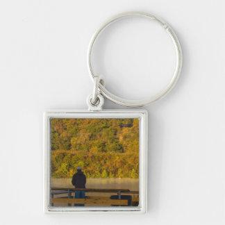 Autumn Fishing Lake Springfield Key Ring