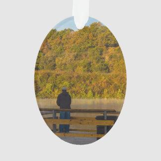 Autumn Fishing Lake Springfield Ornament