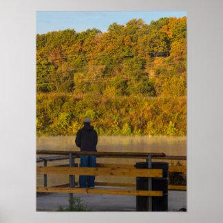 Autumn Fishing Lake Springfield Poster