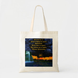 Autumn Flames Poetry Budget Tote Bag