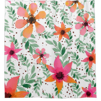Autumn Flora Shower Curtain