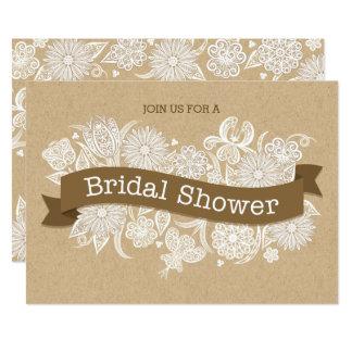 Autumn Floral Bridal Shower Invitation II