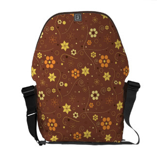 Autumn floral design messenger bag