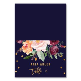 Autumn Floral Escort Place Cards