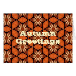 Autumn floral kaleidoscope greetings card