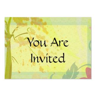 "Autumn Floral Paradise Set 5"" X 7"" Invitation Card"