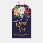 Autumn Floral Thank You Gift Tags