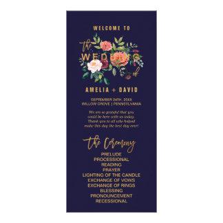 Autumn Floral Wedding Program Rack Card