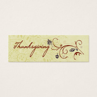 Autumn Flourish Place Tags Mini Business Card