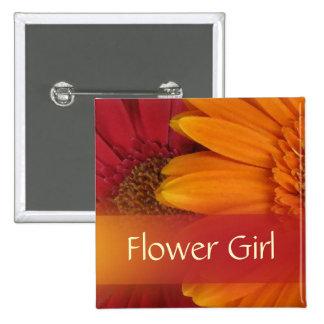 Autumn Flower Girl Button Pin