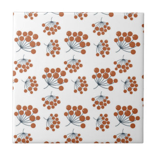Autumn Flower Pattern Small Square Tile