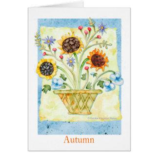 Autumn Flowers Card
