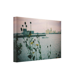 Autumn Flowers on the Shore Canvas Print