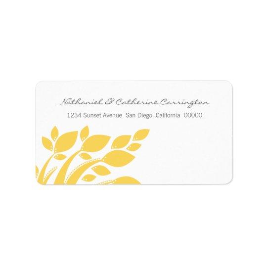 Autumn Foliage Address Labels, Yellow Address Label