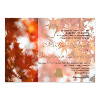Autumn foliage/Wedding Invitation