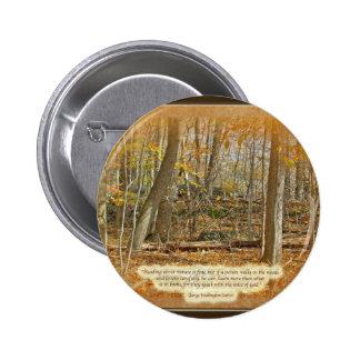 Autumn Forest George Washington Carver Quotation 6 Cm Round Badge