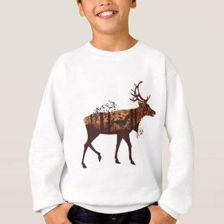 Autumn Forest Landscape and Deer 2 Sweatshirt