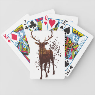 Autumn Forest Landscape and Deer Bicycle Playing Cards