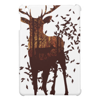 Autumn Forest Landscape and Deer iPad Mini Covers