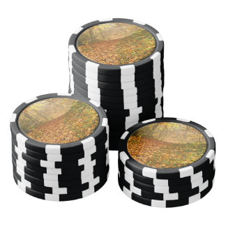 Autumn forest poker chips