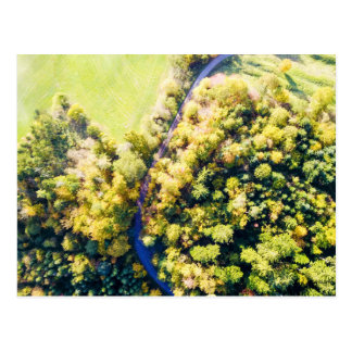 Autumn forest | postcard aerial photograph
