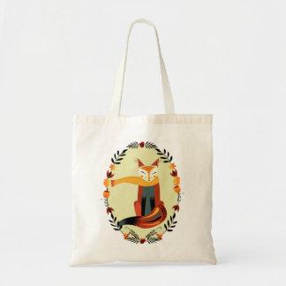 Autumn Fox Canvas Bags