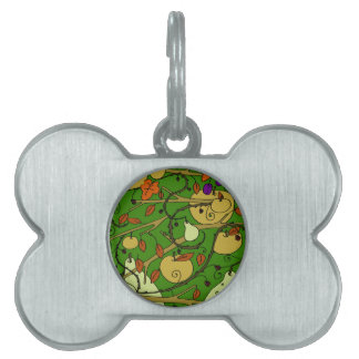 Autumn fruits pet ID tag
