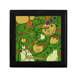 Autumn fruits small square gift box