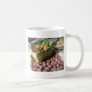 Autumn fruits with hazelnuts and dried figs coffee mug