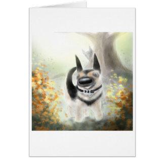 Autumn German Shepherd Pup Greeting Card